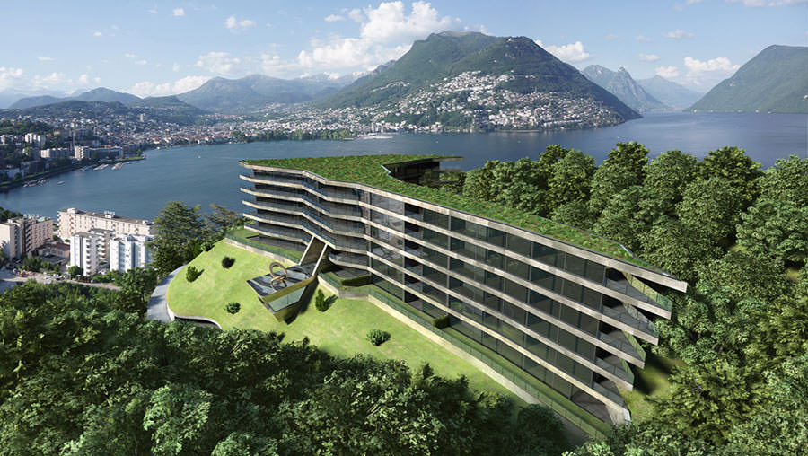 Prestigious modern apartments for sale in Lugano Switzerland Canton Ticino
