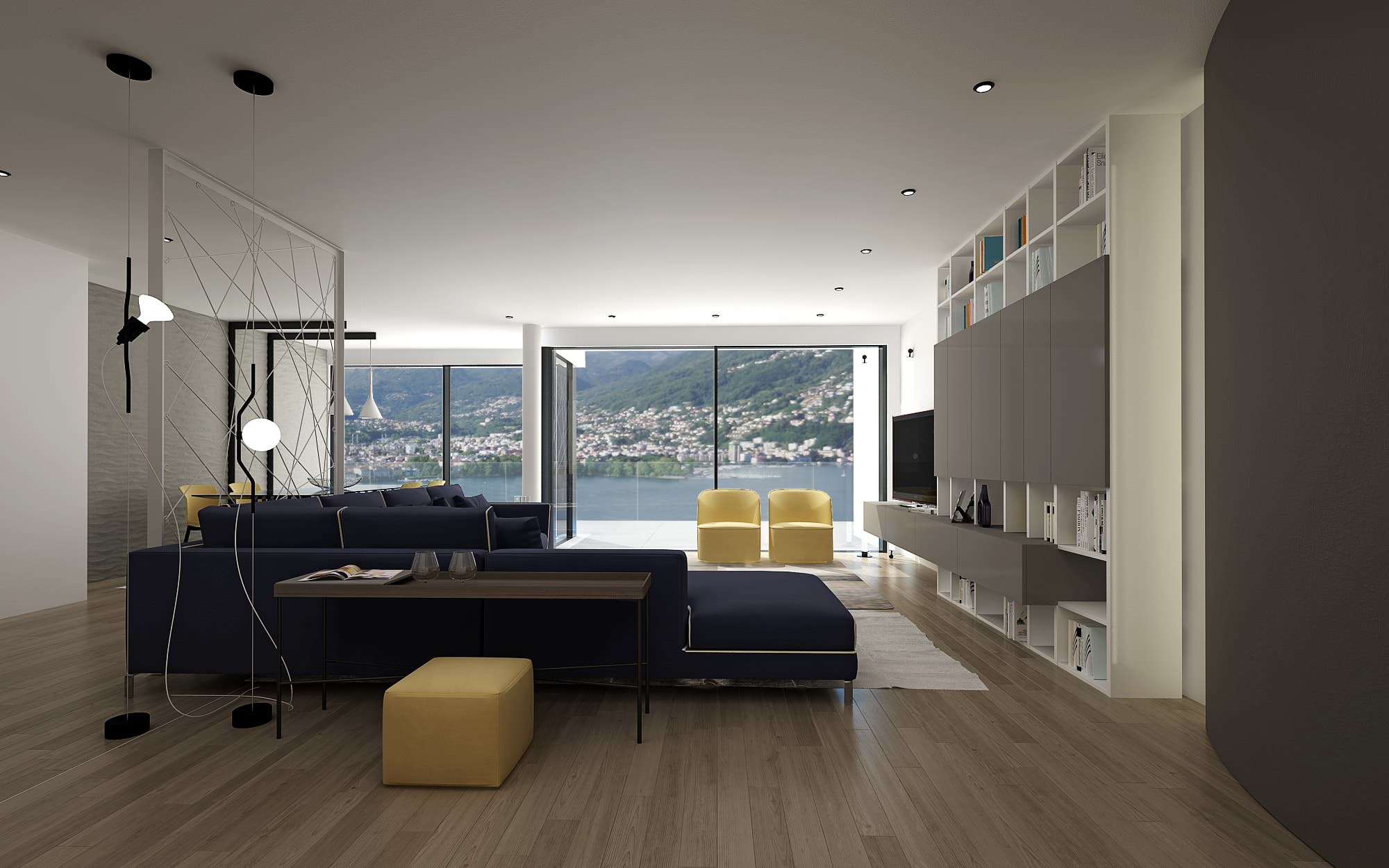 Front luxury design apartment luxury Lugano Ticino Switzerland