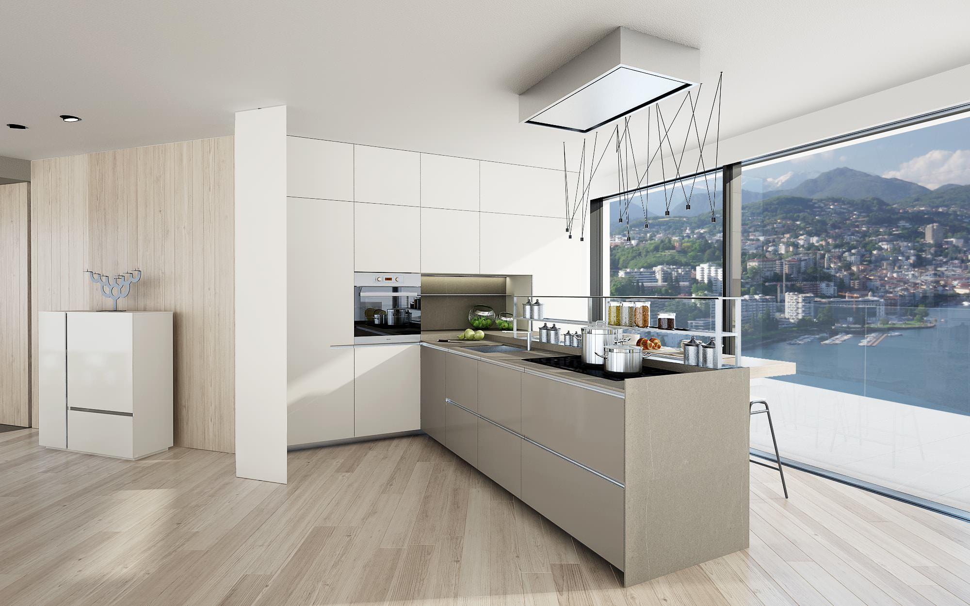 kitchen penthouse design Lugano Switzerland Ticino