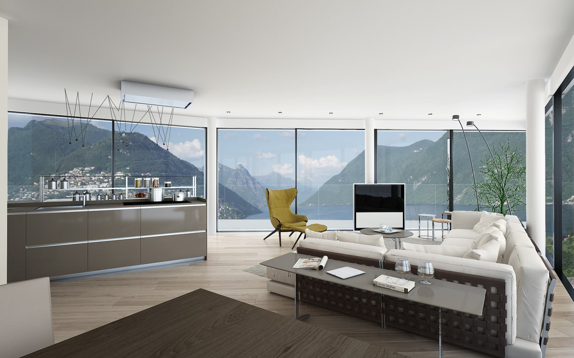 Landscape innovative penthouse Lugano canton Ticino Switzerland