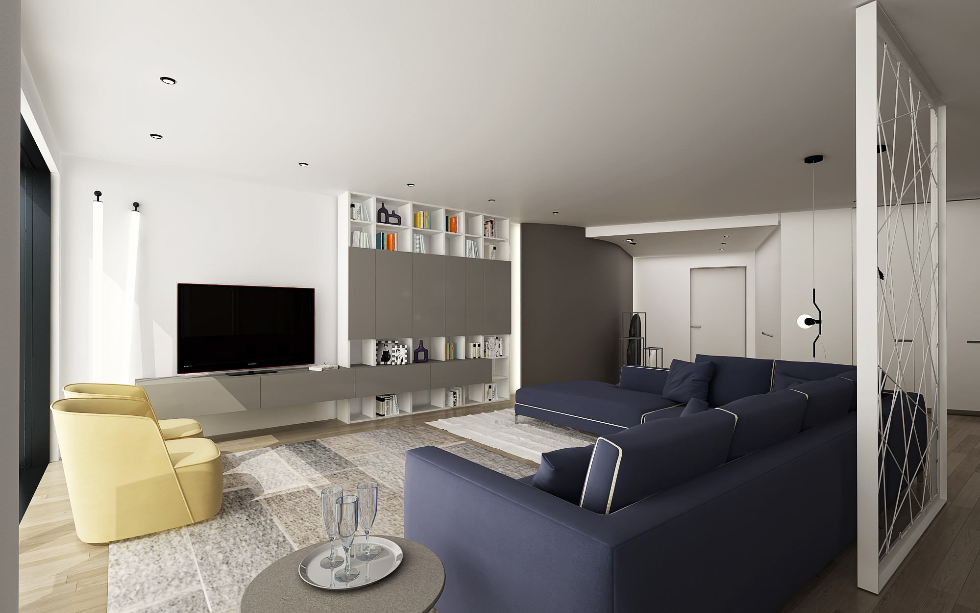 Living area penthouse Lugano