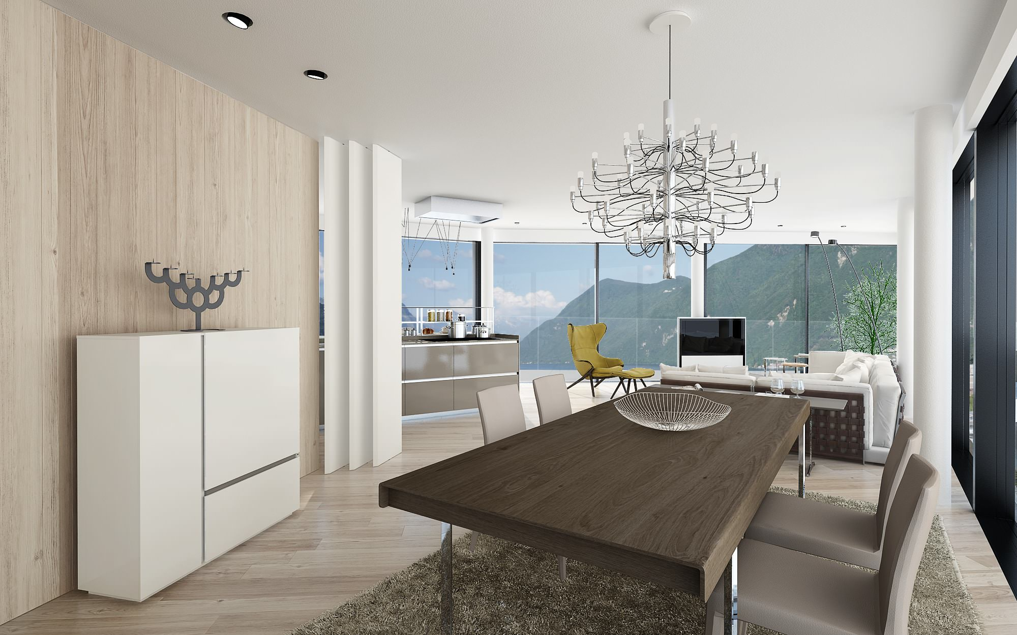 Table penthouse design Lugano Ticino Switzerland
