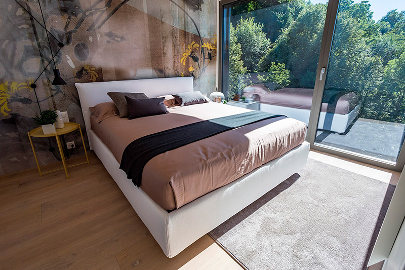 Modern apartments and design in Switzerland Lugano Canton Ticino bedroom