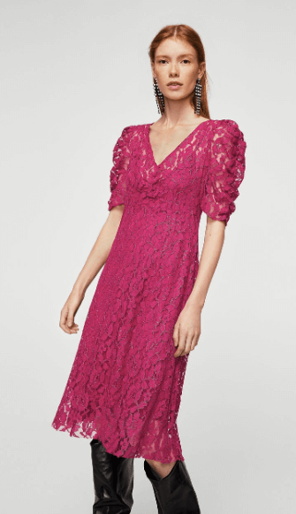 lisa gillbe pink lace dress