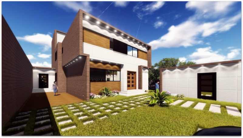 the use of green materials in the construction of buildings: example of modern house