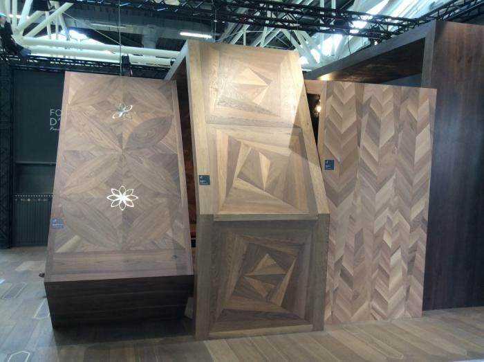 luxury parquet multi-material inlaying
