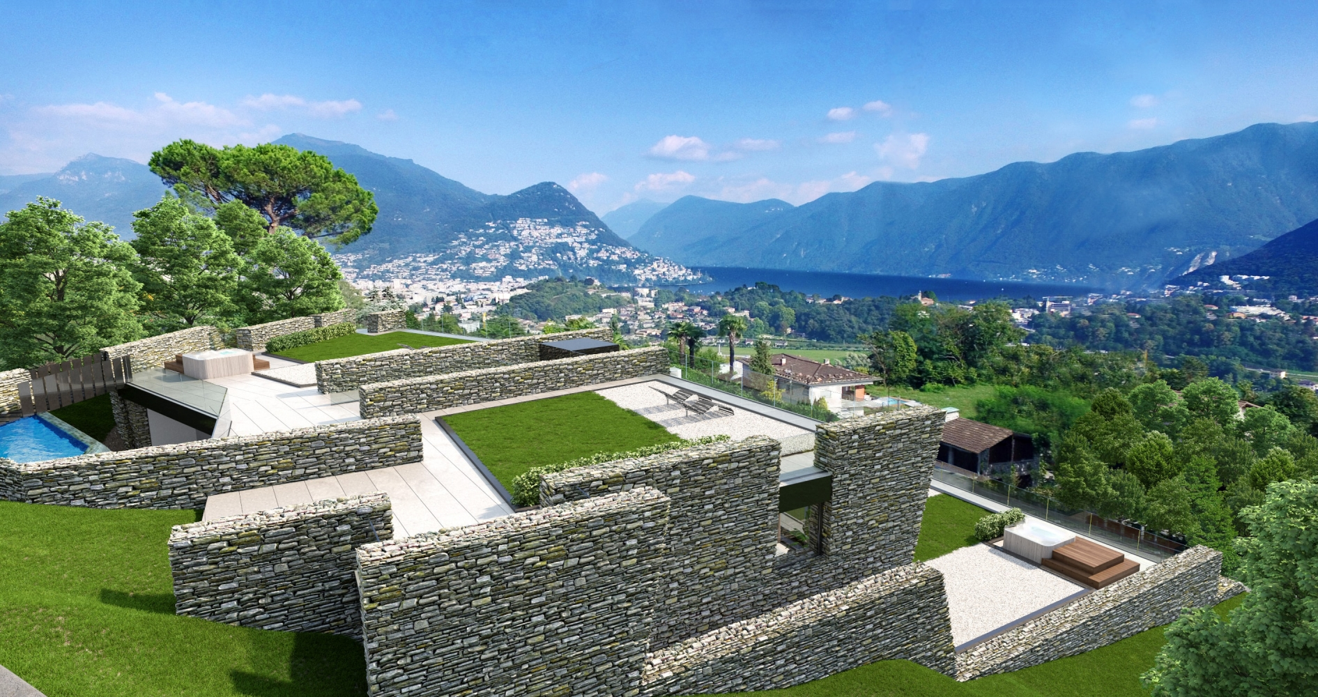 lake view apartments muzzano lugano