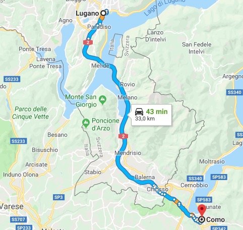 lake como to lugano