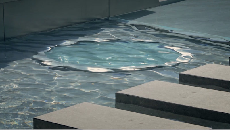 swimming pool in your home detail water