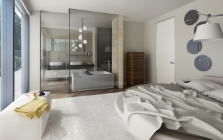Luxury interior design for bedrooms panoramic view
